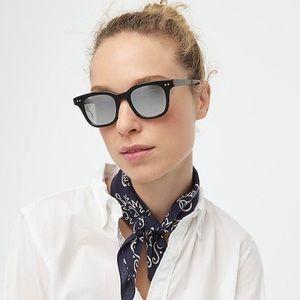 J. CREW Black Cape Sunglasses in Onyx Mirror NWT